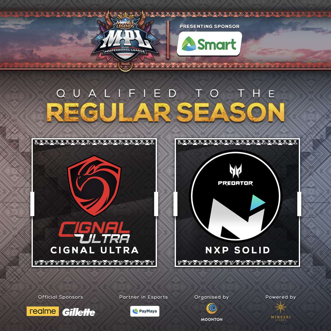 MPL-PH S6 RS qualified teams